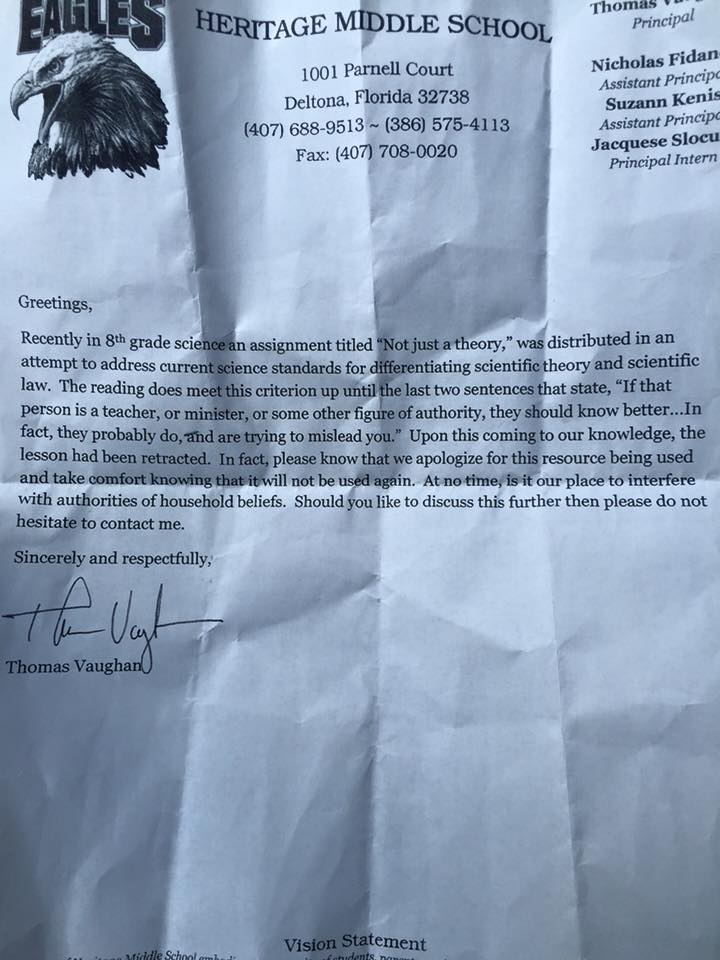 not just a theory apology letter